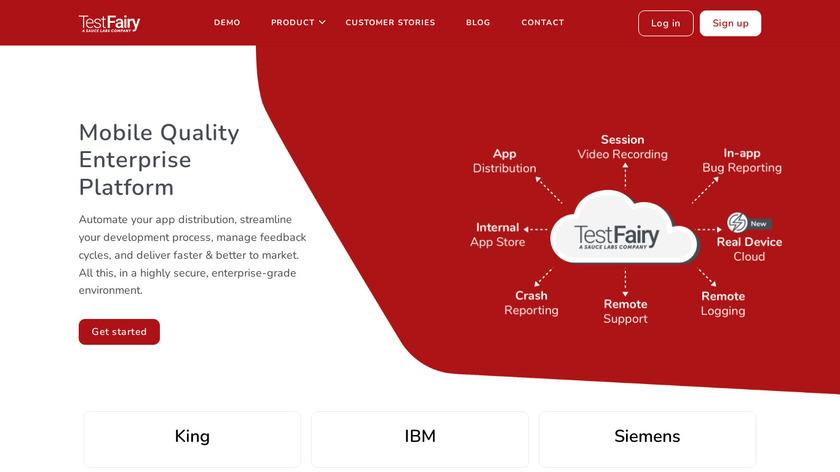 TestFairy Landing Page
