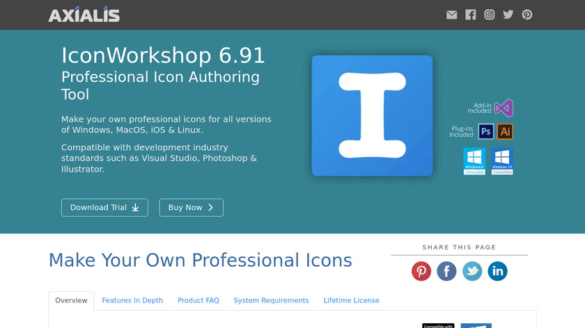 IconWorkshop Landing Page