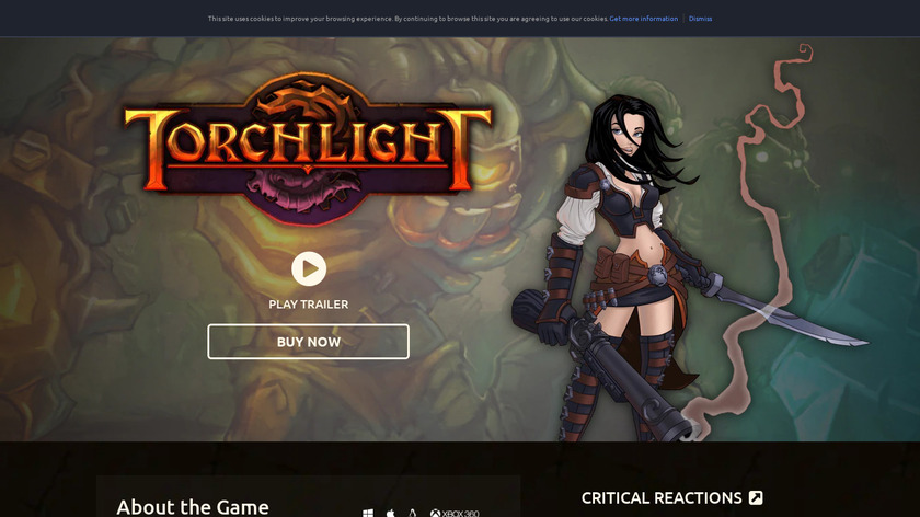 Torchlight Landing Page