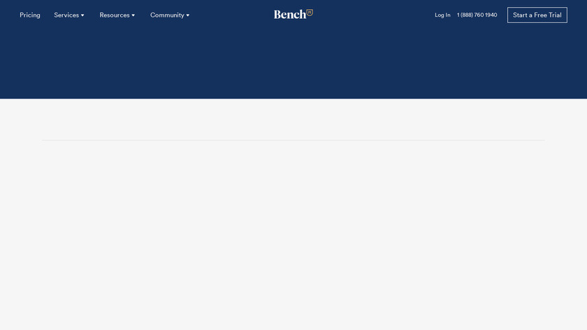 Bench Landing Page