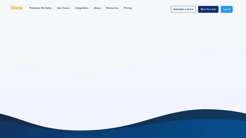 Glew.io Landing Page