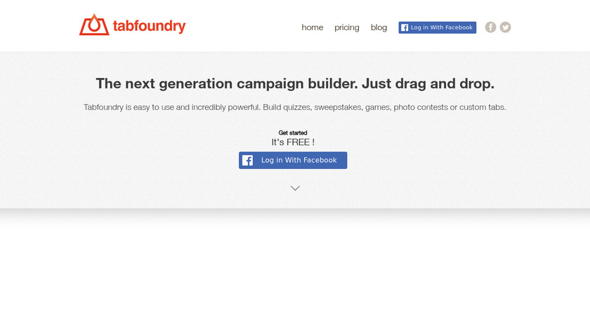 Tabfoundry Landing Page