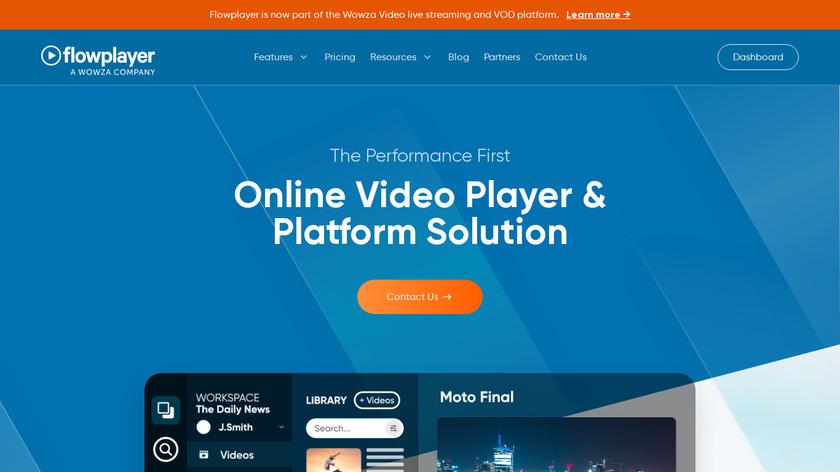 Flowplayer Landing Page
