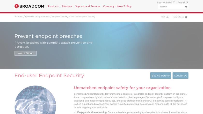 Symantec Endpoint Encryption Landing Page