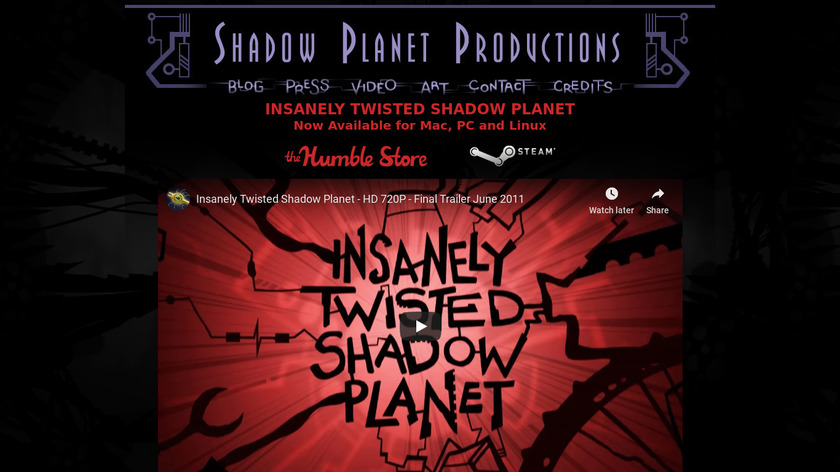 Insanely Twisted Shadow Planet Landing Page