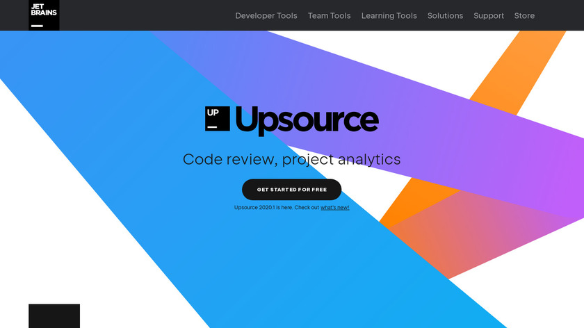 Upsource Landing Page