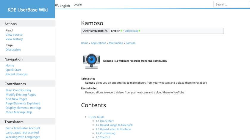 Kamoso Landing Page