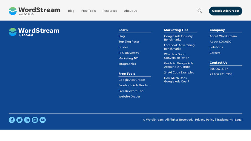 WordStream Landing Page