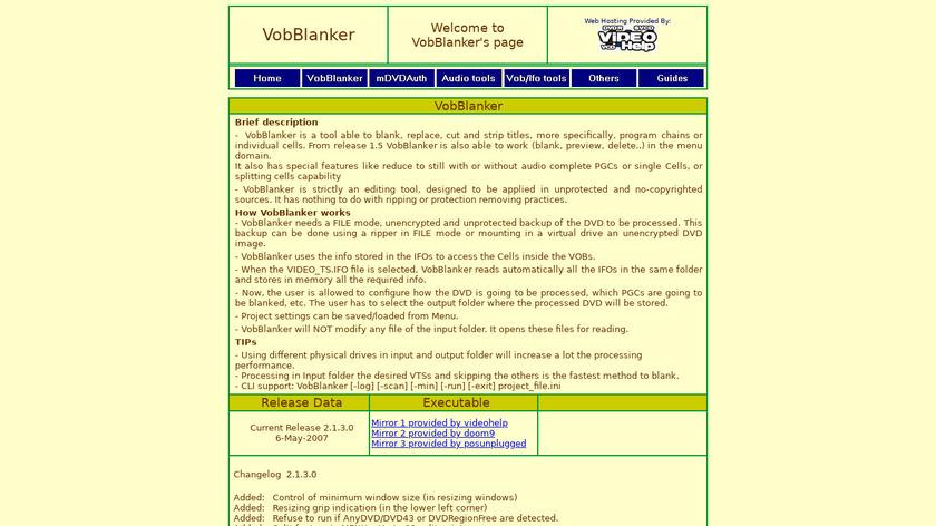 VobBlanker Landing Page