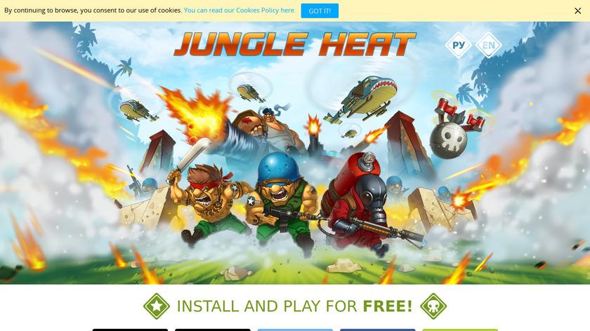 Jungle Heat Landing Page
