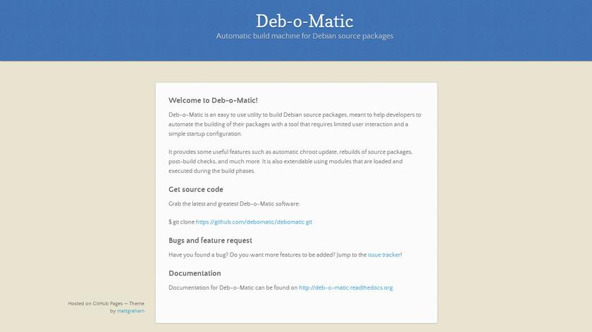 Deb-o-Matic Landing Page