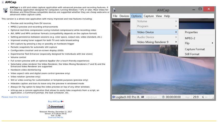 AMcap Landing Page
