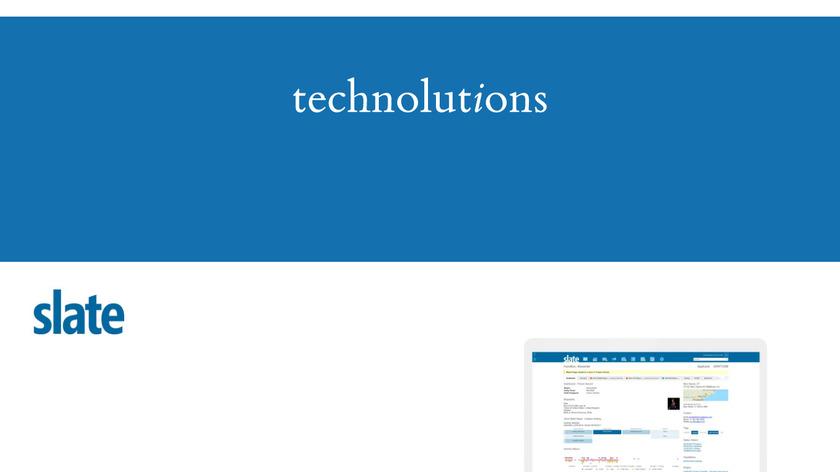 Technolutions Slate Landing Page