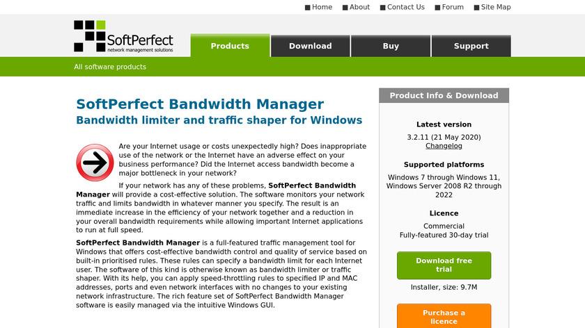 Bandwidth Manager Landing Page