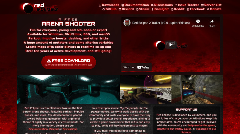 Red Eclipse Landing Page