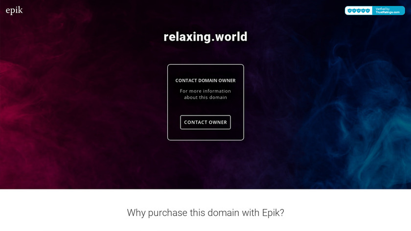 Relaxing World Landing Page