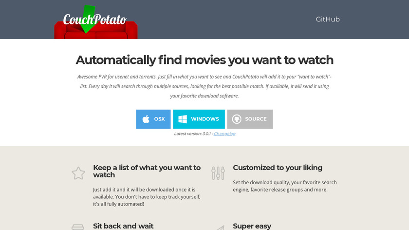 CouchPotato Landing Page