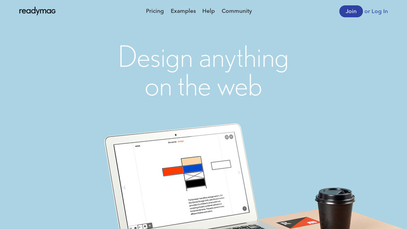 Readymag Landing Page
