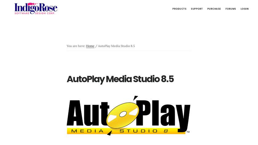 Autoplay Media Studio Landing Page