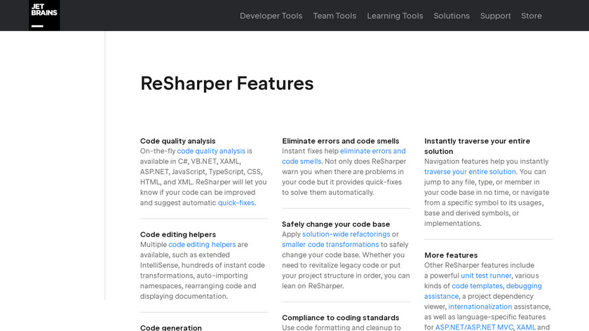 ReSharper Landing Page