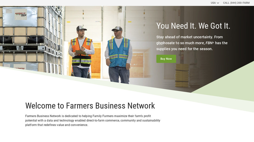 Farmers Business Network Landing Page