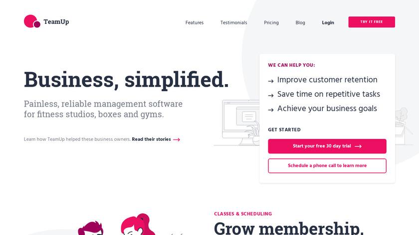TeamUp Landing Page