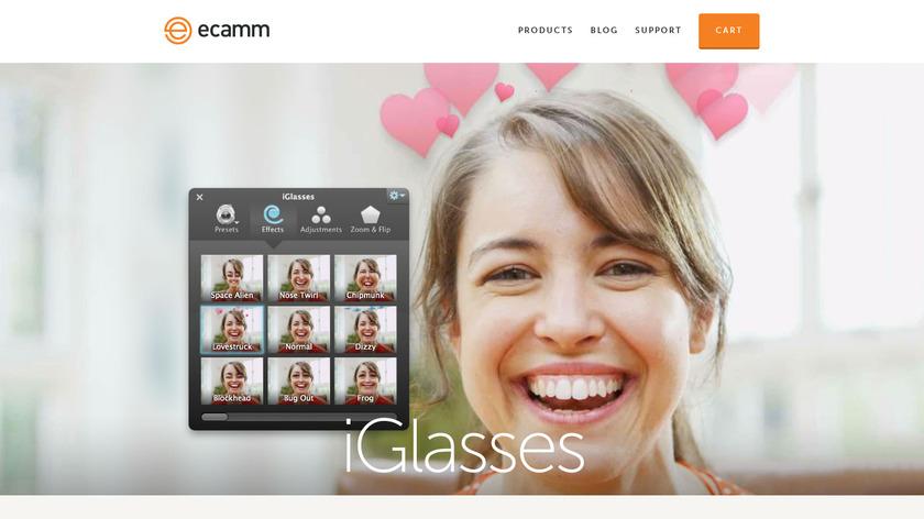 iGlasses Landing Page