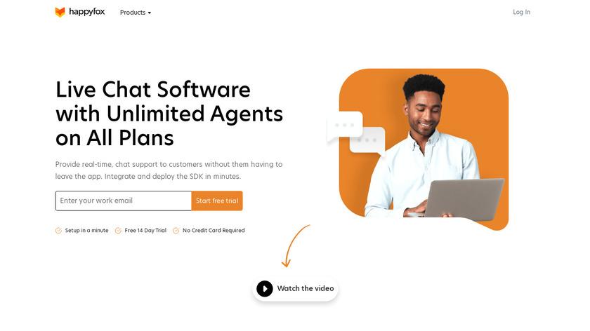 HappyFox Chat Landing Page