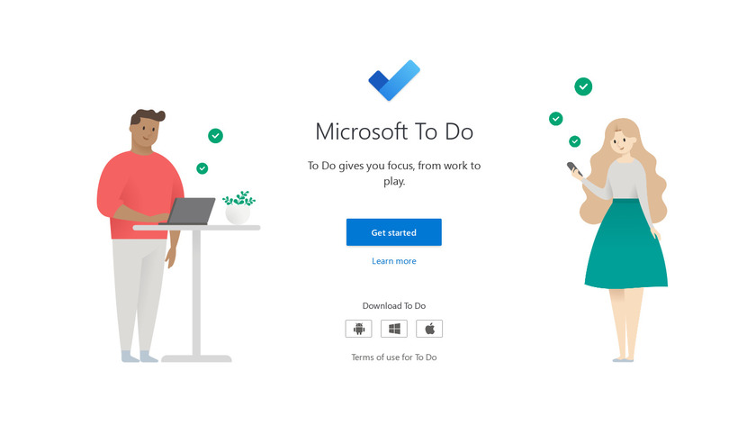 Microsoft To-Do Landing Page