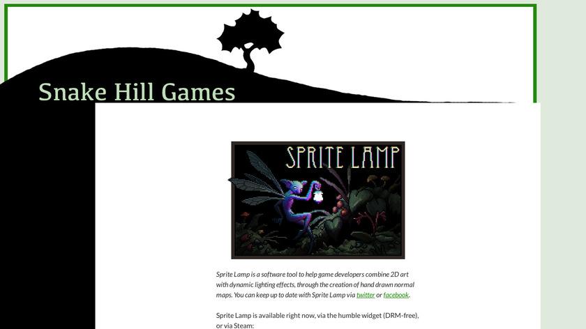 Sprite Lamp Landing Page