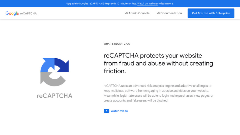 reCAPTCHA Landing Page