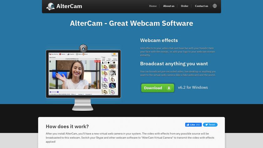 Altercam Landing Page
