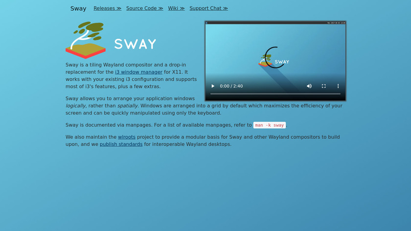 Sway Landing Page