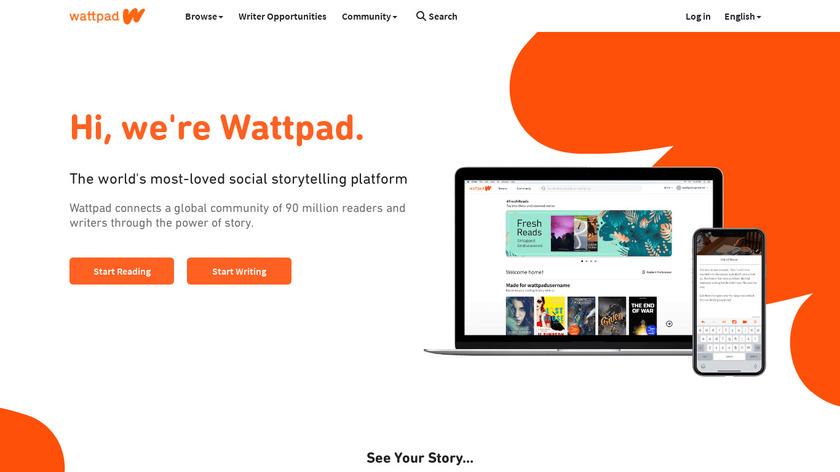 Wattpad Landing Page
