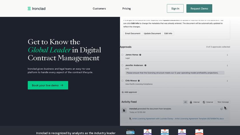 IronClad Landing Page