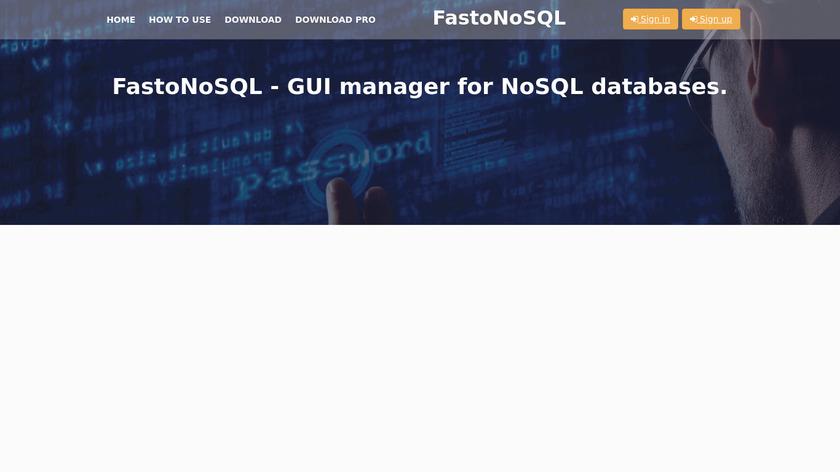 FastoNoSQL Landing Page