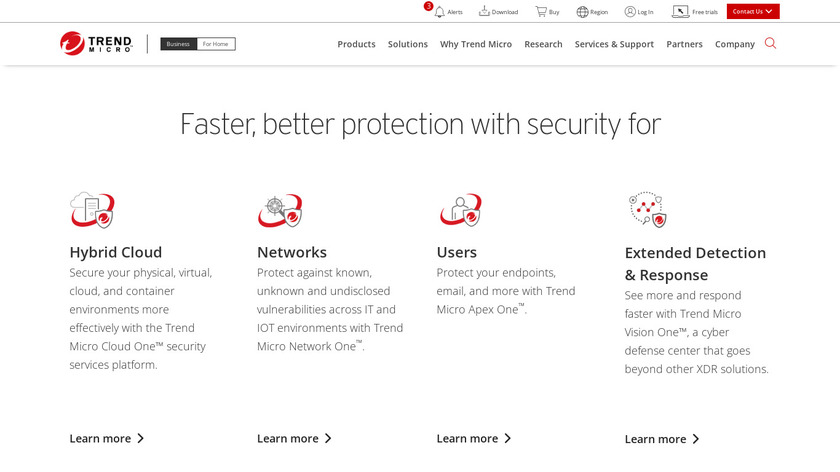 Trend Micro Landing Page