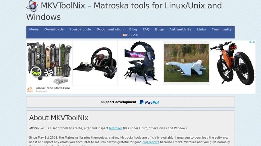 MKVToolnix Landing Page