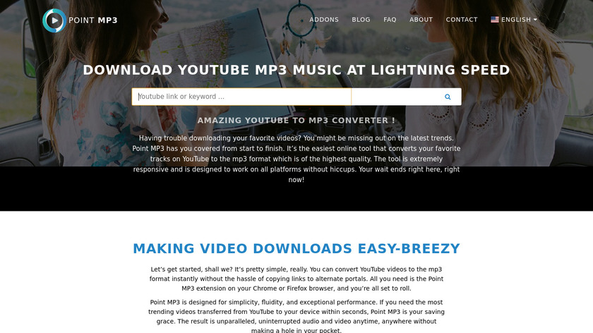 Point MP3 Landing Page