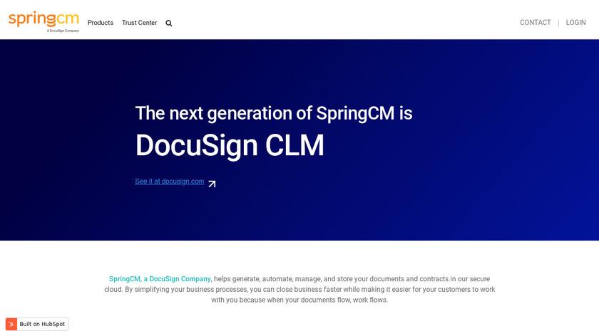 SpringCM Landing Page