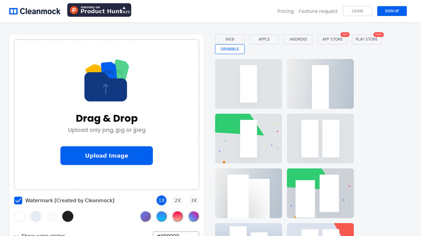 Cleanmock Landing Page