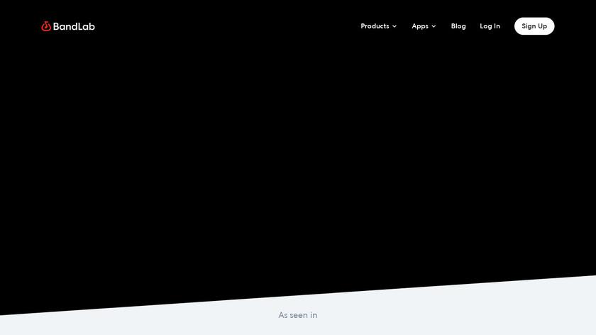 Bandlab Landing Page