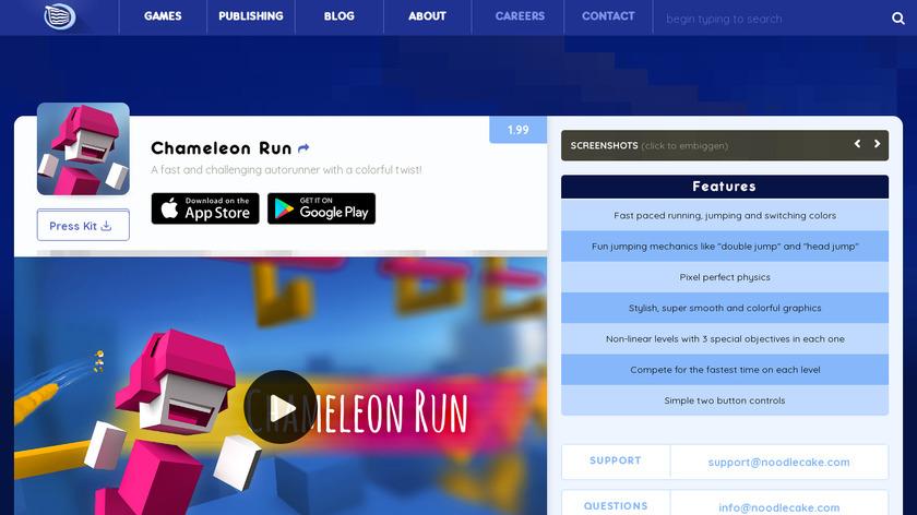 Chameleon Run Landing Page