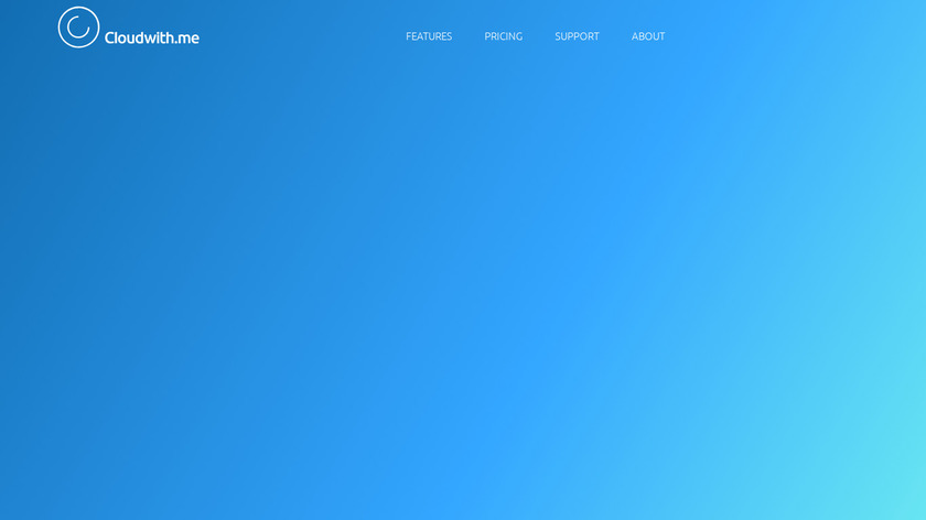 Cloudwith.me Landing Page