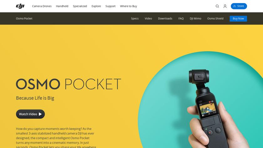 DJI Osmo Pocket Landing Page