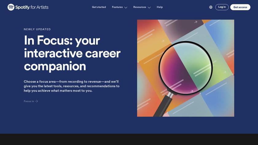 Spotify Artists Landing Page