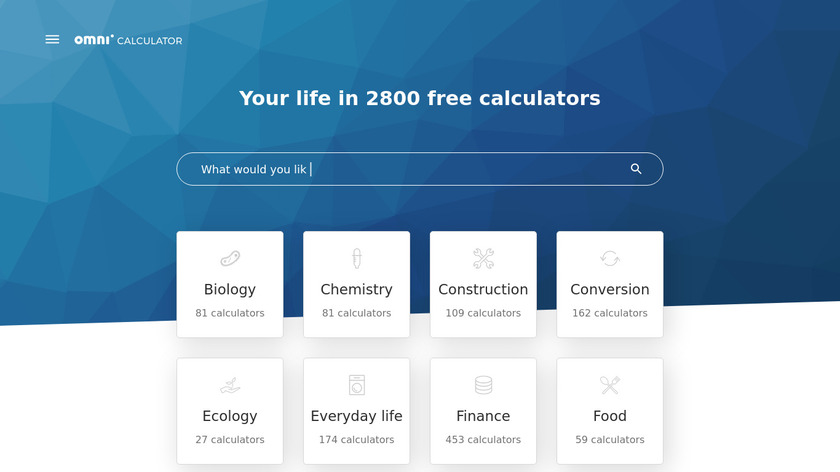 Omni Calculator Landing Page