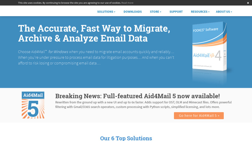 Aid4Mail Landing Page