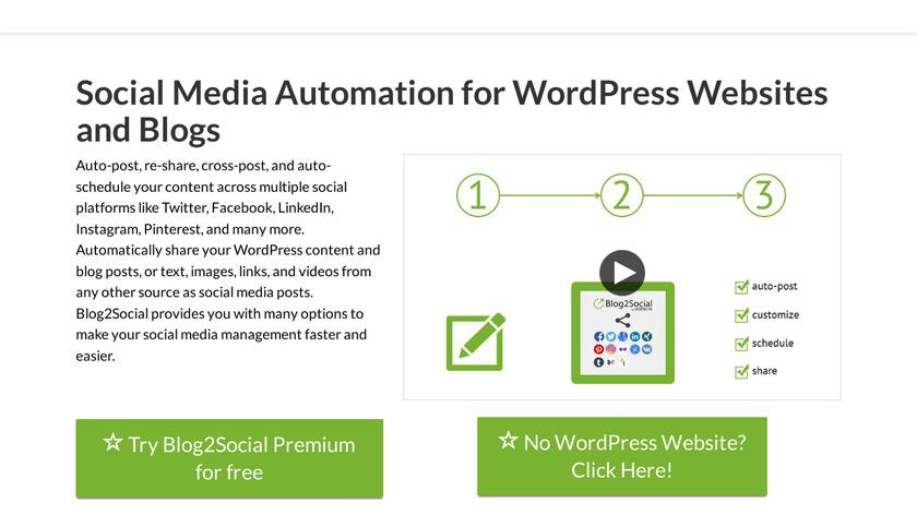 Blog2Social Landing Page