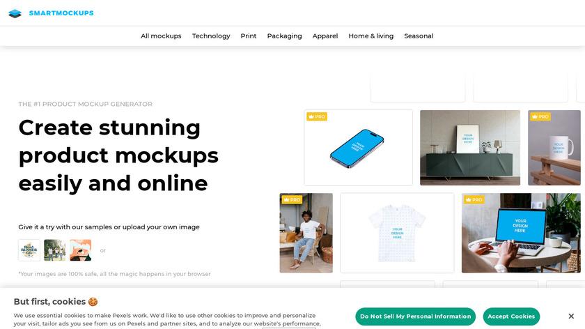 Smartmockups Landing Page